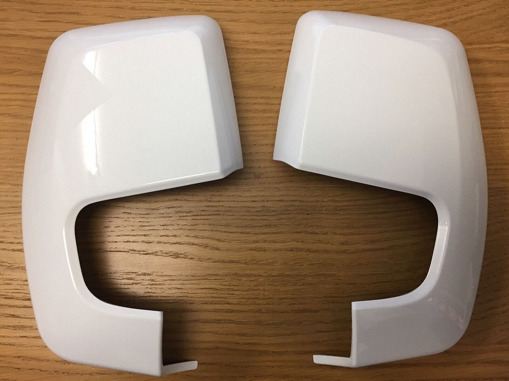 Ford Transit Custom 2012> Onwards Frozen White Wing Mirror Cover set (PAIR)